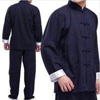 achat en gros de costumes de wushu-Adultes Martial Arts Uniforme Wing Chun Tai Chi Costumes réversible Wushu Tang Costume Vêtements traditionnels chinois UA0243