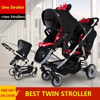 baby strollers china - Folding Travel Stroller Essential Babies Twins Strollers Cars For Two Babies Kids Trolley China Pushchair Inflatable