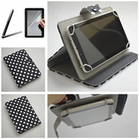 alcatel tablets - New Style Polka Dot Grain For Alcatel One Touch Pixi G inch Universal Tablet PU Leather Case Colors Gifts