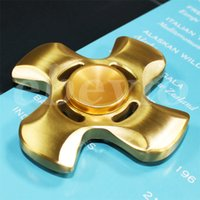Wholesale 2017 New Fidget Spinner HandSpinner Hand Spinner Finger EDC Toy For Decompression Anxiety Stainless Steel Metal Pure Copper Toys
