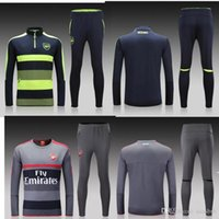 Wholesale 2016 real madrid Tracksuits top quality real madrid Training suit RONALDO BENZEMA JAMES BALE Arsenal football Tracksuits