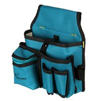 Wholesale pc120 mm Blue New Thicken canvas Oxford Multi Funtional Hardware Toolkit Shoulder Strap Tool Bag Backpack