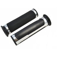 atv handle bar silver - HB SV High Quality Silver Color Alloy Rubber mm Handle bar ATV Motorcycle Grips for Pit Bike