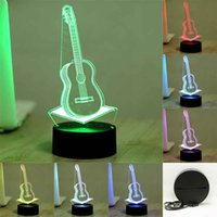 Wholesale 7 Colorful D Visual Guitar Led Night Lights for Kids Touch USB Table Lampara Lampe Baby Sleeping Nightlight