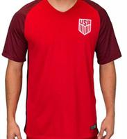achat en gros de nouvelle femme jersey-USA taille S-XL nouvelle Thaïlande Quality 2017/18 women mens soccer Jerseys United States Home Away DEMPSEY DONOVAN Chemise de football BRADLEY ALTIDORE