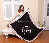 Wholesale cm Coral Fleece Fabric Blanket Size Flannel Blanket Bedding Article Small Blanket Keep Body Warm Living Room Bed