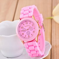 battery school - Hot Summer Student School Public Watches GENEVA Silicone Fashion Candy Color Watches Sports lover s Quartz Watches Children birthday gifts