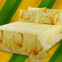 Wholesale Amadam Queen Size D Lemon Fruit Print Bedding Set Duvet Cover Sets Flat Sheet Pillowcase Bedlinen Bedclothes