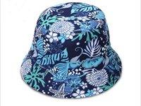 Wholesale The new European and American wind digital printing brim hat Ms Child basin hat Sun beach hat