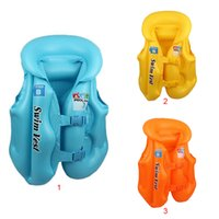 baby swimming jacket - Kids Baby Float Swimming Aid Life Jacket Inflatable Swim Beach Vest Swimsuit Boy Girl Water Sports Cool Rafting Vest LifeJacket