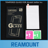 Wholesale 50pcs H High Clear Tempered Glass Screen Protector For Alcatel Stellar tru Tempered Glass with Retail Pack Free DHL Shipping