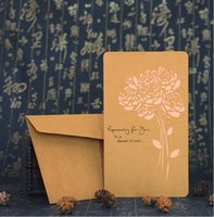 Wholesale High quality types kraft paper greeting cards with letter and envelop valentines cards wishes cards