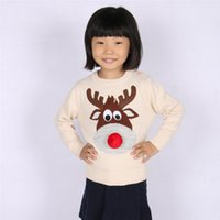 Wholesale Autumn Winter Fashion Kids Clothes Christmas Deer Lemon Sweater Children Long Sleeve Knit Baby Boys Girls Sweaters Toddler Clothing