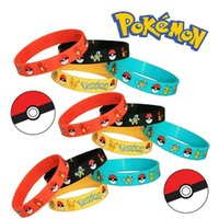 Wholesale Poke Go Silicone Bracelets Pocket Monster Wristband Colors Soft Poke Ball Wrist Band Straps Figures Kids Toys Kids Christmas Cosplay Gift