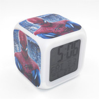 amazing electronic - New Led Alarm Clock Amazing Spider Man Creative Desk Table Electronic Clock Digital Alarm Clock for Kids Toy Gift