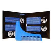 Wholesale Hot Comb Beard Bro Shaping Shaving Brush Sexy Man Gentleman Beard Trim Template Hair Cut Molding Trim Template Beard Modelling Tools