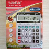 Acheter Bureau de calculateur-Mini calculatrice électronique Business Work Calculer Commercial Financial office business supplies 12 chiffres Calculatrice électronique et bouton
