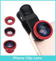 Universal angle clip - 3 In Universal Clip Camera Mobile Phone Lens Fish Eye Macro Wide Angle For iPhone Samsung Galaxy S7 HTC Huawei All Phones fisheye