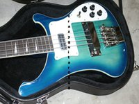 Wholesale High Quality Custom blue Strings Electric Bass Factory direct sale