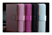 Wholesale Dhl For Galaxy S6 S7 S7 Edge Real Genuine Wallet Leather Phone Cases with Card Slots Holder Pocket Flip Stand Cover for Samsung S6 S7 C7 C9