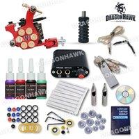 Wholesale Professional Beginner Tattoo Kit Machine Guns Inks Tattoo Power Supply D1025GD