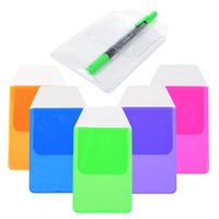 assorted plastic bags - Assorted Colors Pocket Protector for Pen Leaks Blue light green Hot pink Purple Orange Clear