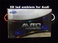 audi au - 5D car led emblem car led badge car led symbols logo for Au d size x58mm