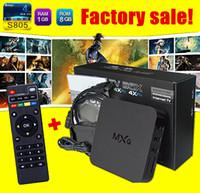 Wholesale MXQ TV Box Amlogic S805 Quad Core Cortex A5 Mali Quad Core H H KODI Pre installed VS MX pro Android DHL High Quality Sale