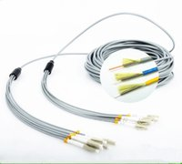 armored cable - Multimode Armored Fiber Patch Cords LC LC SC FC ST Core MM Armoured Optic Fiber Patch Cables
