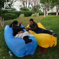 Wholesale Banana or square shape in stock Sleeping Bag Camping Air Sofa Hangout Lazy Bag Inflatable Air Bed Waterproof Beach Bed Laybag