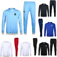 Wholesale Marseille tracksuit Real Madrid training suits Rooney Chelsea football tracksuit thai quality set outdoor winter coat sportswear
