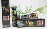 Wholesale Bamboo charcoal teeth whitening black toothpaste scouring insect resistant eat by moth vanilla chocolate scent g BH154T