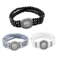 achat en gros de valentine accrochage charme-2016 Perles Elastiques Noosa Bracelets Fit 5.5mm Dia Snap Button Bricolage Bijoux Accessoires Charmes Bracelets Saint Valentin Cadeau N10L