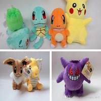 Wholesale 15 cm Poke Plush Toys Doll Pikachu Bulbasaur Squirtle Charmander Stuffed Animals Toys Pocket Monster Soft Doll Christmas Gift PPA631