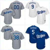austin mix - 2017 Cool Base Jersey Men s Los Angeles Dodgers Yasmani Grandal Austin Barnes Brock Stewart Custom Baseball Jerseys Mix Order
