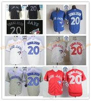 Baseball Unisex Short 2017 Cheap Majestic Official Cool Base MLb Stitched 40th Toronto Blue Jays 20 Josh Donaldson White BLue Red Gray Black Jerseys Mix Order