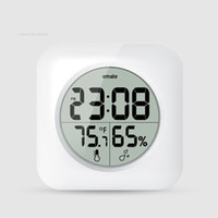 Wholesale Hotel bathroom clock digital LCD Thermometer hygrometer temperature and humidity meter desk table clock wall clock bathroom Waterproof bell
