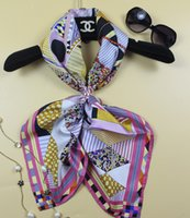 argyle scarf - Women Ladies Fashion Argyle Printing Pure Real Twill Silk Scarf Square Shawl Wrap x90cm UPS TNT
