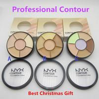 Wholesale NYX Contour Foundation Cake Concealer Palettes Colors Highlighter Contour Cream Kit Powder Makeup Brands Face Cosmetic