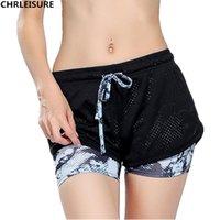 al por mayor cortos de tiempo de aventura-CHRLEISURE S-L 10 mujeres de color impresas Shorts moda de malla coloridas corto de las mujeres tiempo de aventura