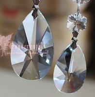 baroque style decor - 30 mm PEAR style Crystal Baroque prism chandelier pendant drops hanging beads ornament wedding decor