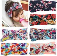 Cheap Headbands soft hair Best Cotton Floral cotton girl