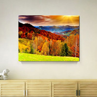 One Panel Digital printing Modern Home Decoration Painting Wall Art Prints of Mountain Forest Landscape Canvas Printed Picture for Living Room Dropship Wholesale