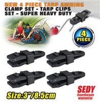 awning assembly - Awning Clamp Tarp Clips Hangers Tent Camping Survival Tighten Tool Fixture Hand Clamp Pack