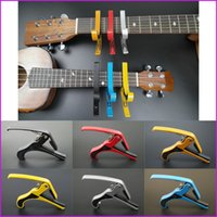 Wholesale 6 Colors New Arrival Guitar Jaw Capo Clamp for Electric and Acoustic Tuba Guitar Trigger Release