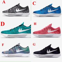 barefoot golf shoes - High Quality Lunarepic Low Flywire Barefoot Knit Women Men Running Shoes Roshe Run Trainer Zapatos Max Size