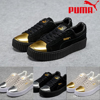 Wholesale 2017 Discount New Style puma Running Shoes Rihanna Metal For Men Women Fashion Sneakers Athletic Sport Skater Shoes