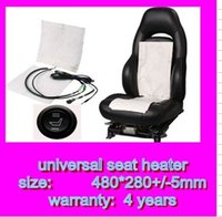 Wholesale DHL round carbon fiber car seat heater kits car seat heating pads car heat cushion car heat pads