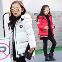 Wholesale 2016 Burst models winter new girls in the long section of the hair collar large children hooded down jacket