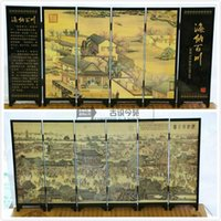 Wholesale Art Classical Chinese Lacquer Handwork Painting All rivers run into sea Auspicious Screen Decor